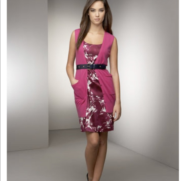 Theory Dresses & Skirts - Theory pink fuchsia cocktail dress in silk